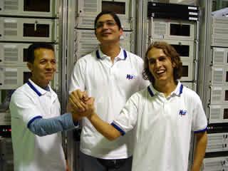 Geraldo, Ramiro e Kauê - Diretores da Hostnet