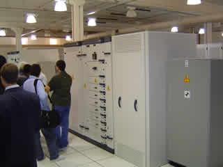 Centrais de controle das linhas de Energia