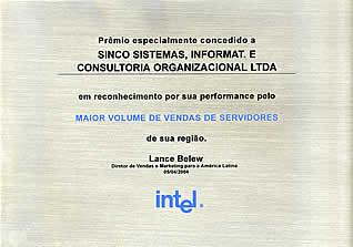 Reconhecimento Intel por Volume de Servidores em Sua Região