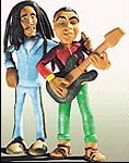 Bob Marley e Gilberto Gil no clipe Three Little Birds