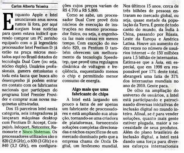 Jornal O GLOBO - 13 de junho de 2005