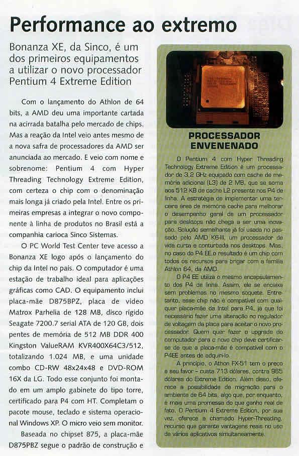 Revista PC World, Dezembro/2003, página72. CLIQUE PARA AMPLIAR