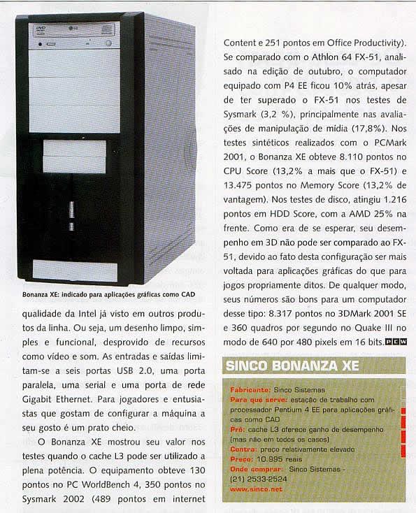 Revista PC World, Dezembro/2003, página73. CLIQUE PARA AMPLIAR