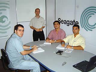 Treinamento Seagate realizado em 23/03/2004